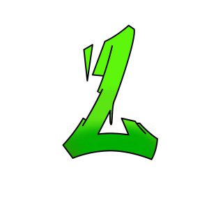 How to draw graffiti letter L tutorial step 4 graphic
