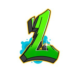 How to draw graffiti letter L tutorial step 7 graphic
