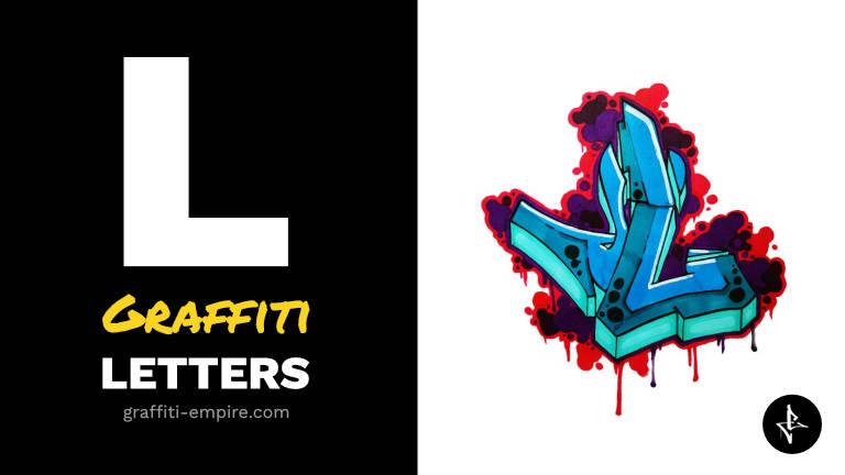 L graffiti letters thumbnail graphic