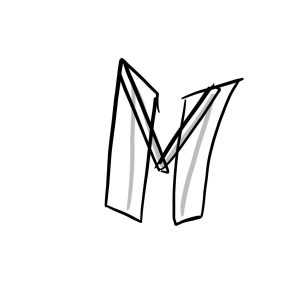 How to draw graffiti letter M tutorial step 2 graphic