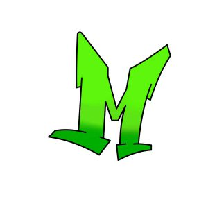 How to draw graffiti letter M tutorial step 4 graphic