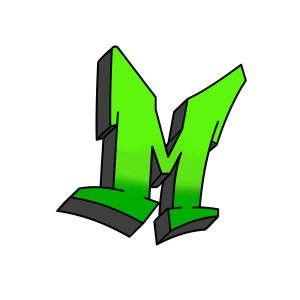 How to draw graffiti letter M tutorial step 5 graphic