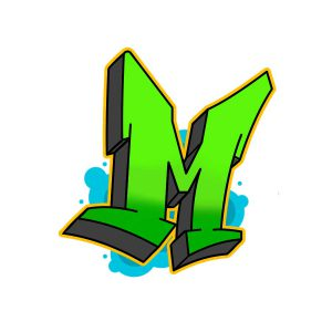How to draw graffiti letter M tutorial step 6 graphic