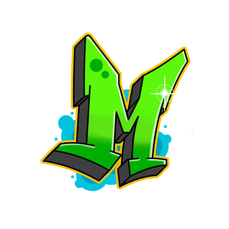 How to draw graffiti letter M tutorial step 7 graphic