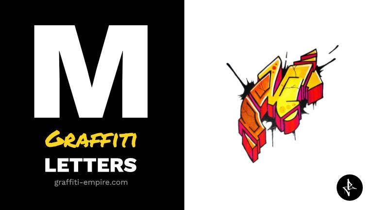 M graffiti letters thumbnail graphic