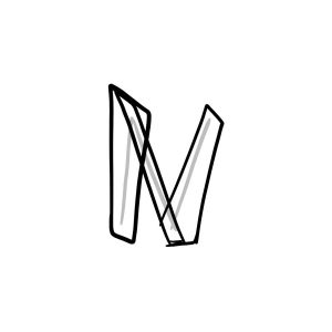 How to draw graffiti letter N tutorial step 2 graphic