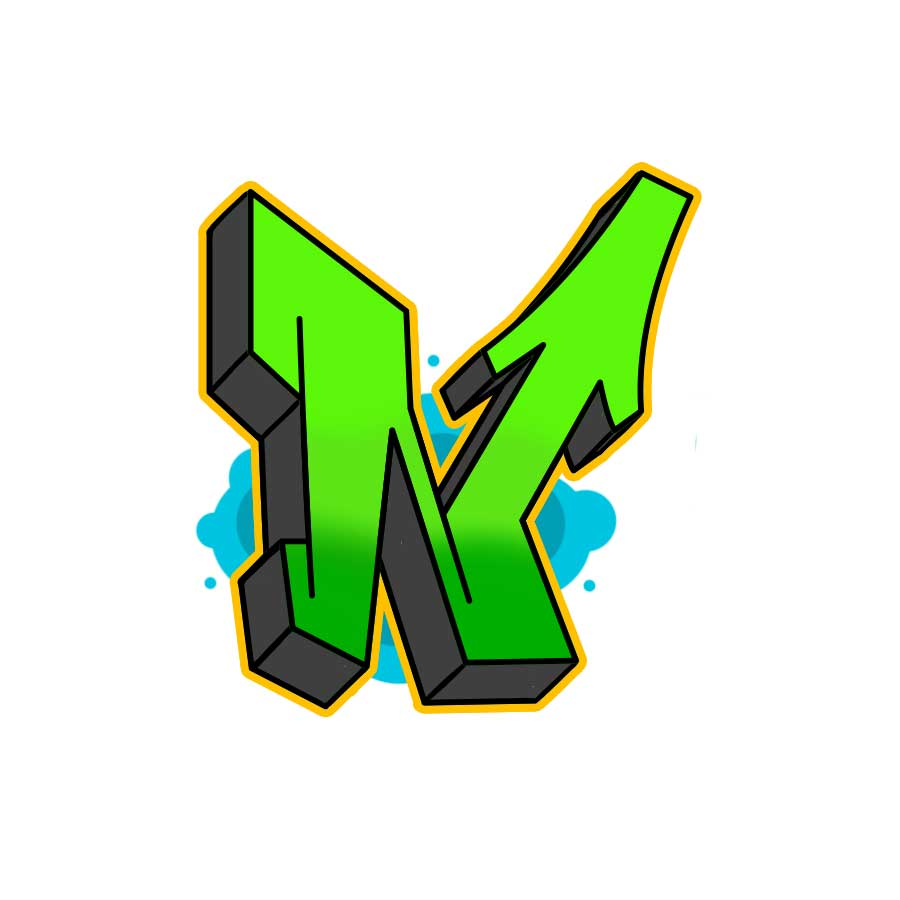 How to draw graffiti letter N tutorial step 6 graphic