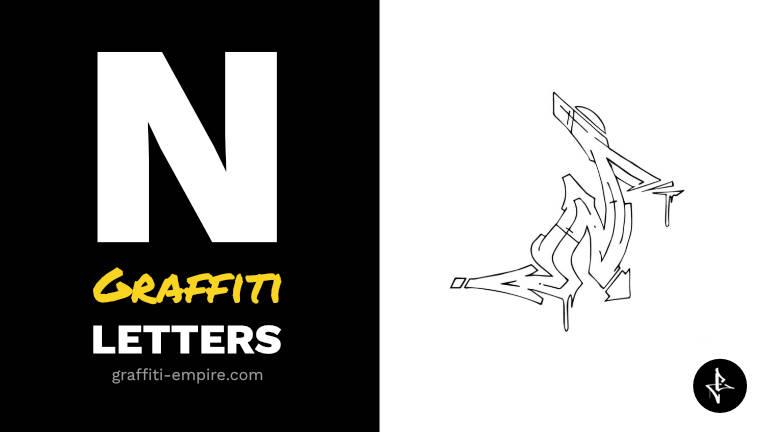 N graffiti letters thumbnail graphic