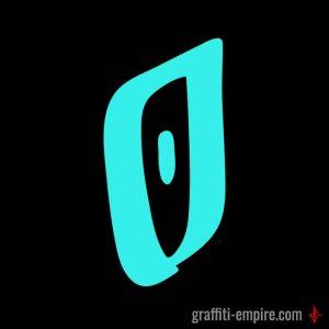 Calligraphy O Graffiti Letter