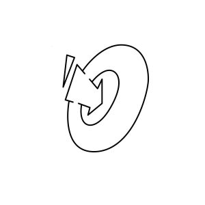How to draw graffiti letter O tutorial step 3 graphic