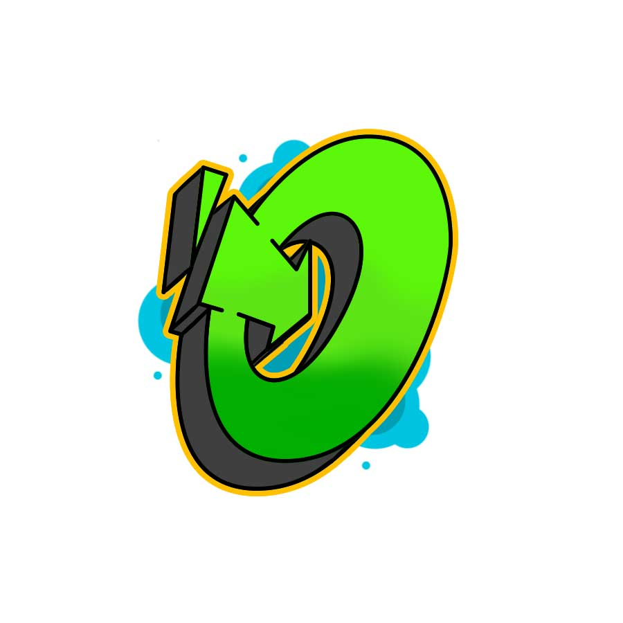 How to draw graffiti letter O tutorial step 6 graphic