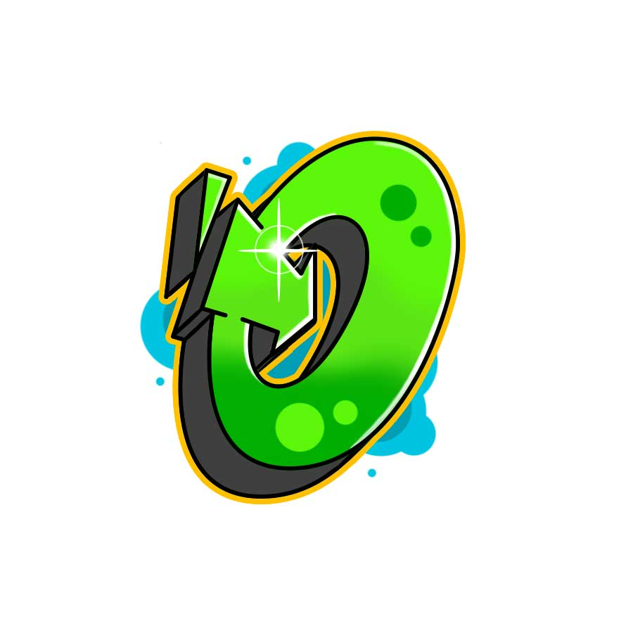How to draw graffiti letter O tutorial step 7 graphic