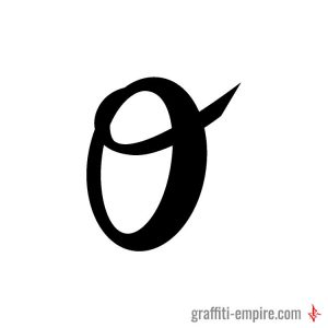 O in handlettering style