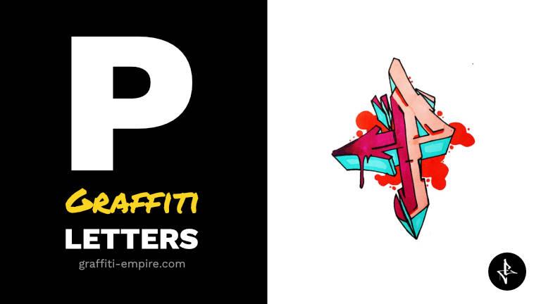 P graffiti letters thumbnail graphic