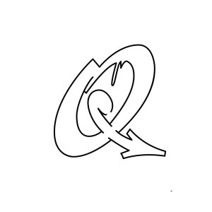 How to draw graffiti letter Q tutorial step 3 graphic
