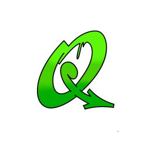 How to draw graffiti letter Q tutorial step 4 graphic