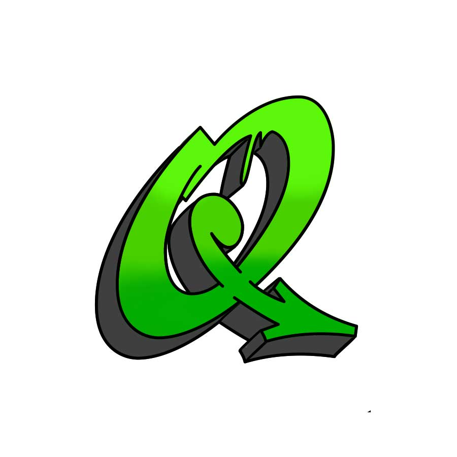 How to draw graffiti letter Q tutorial step 5 graphic