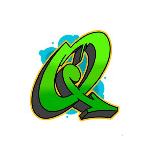 How to draw graffiti letter Q tutorial step 6 graphic