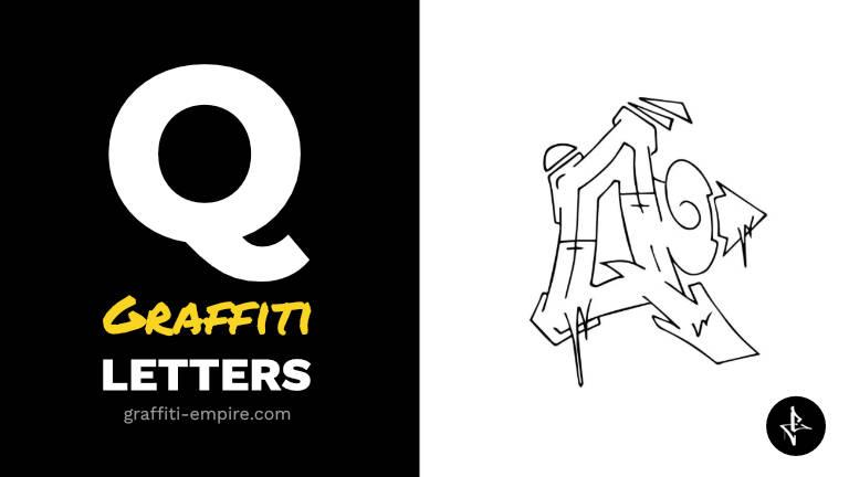 Q graffiti letters thumbnail graphic