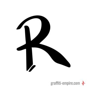 Big R Graffiti Tag Letter