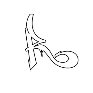 How to draw graffiti letter R tutorial step 3 graphic