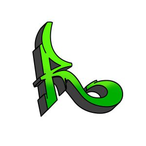How to draw graffiti letter R tutorial step 5 graphic
