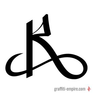 R graffiti tag letter