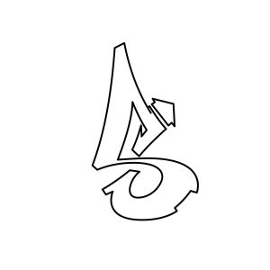 How to draw graffiti letter S tutorial step 3 graphic