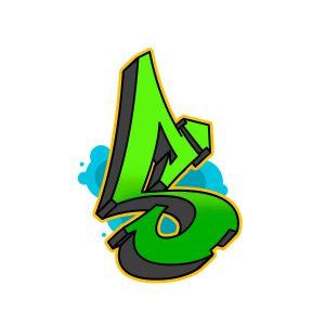 How to draw graffiti letter S tutorial step 6 graphic