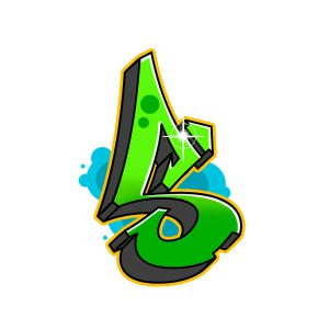 How to draw graffiti letter S tutorial step 7 graphic