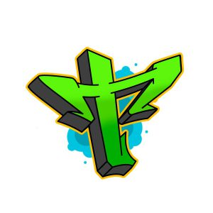 How to draw graffiti letter T tutorial step 6 graphic