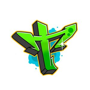 How to draw graffiti letter T tutorial step 7 graphic