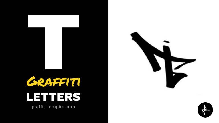 T graffiti letters thumbnail graphic