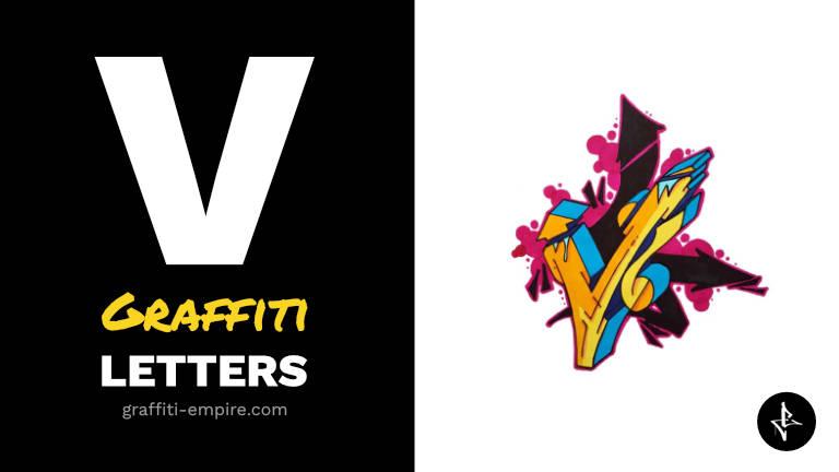 V graffiti letters thumbnail graphic