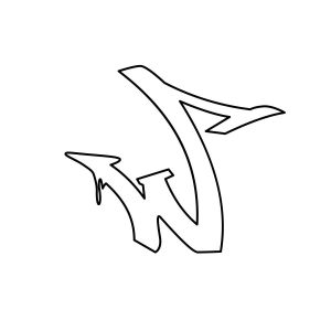 How to draw graffiti letter W tutorial step 3 graphic