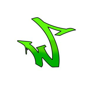 How to draw graffiti letter W tutorial step 4 graphic