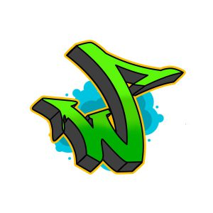 How to draw graffiti letter W tutorial step 6 graphic