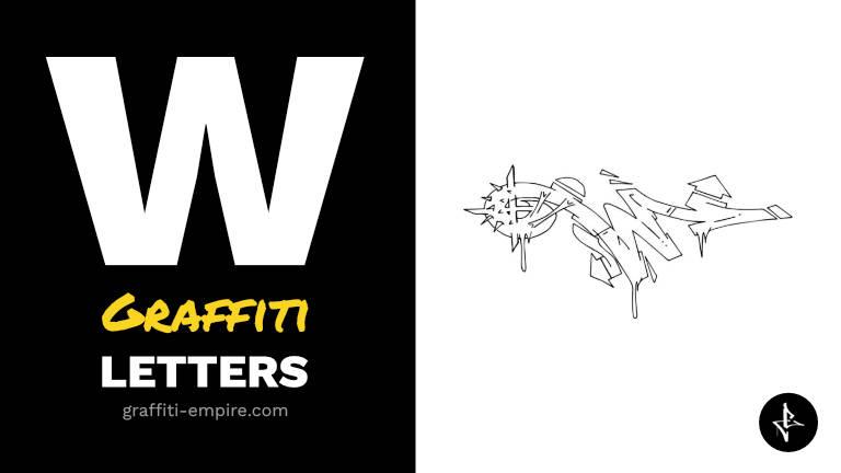 W graffiti letters thumbnail graphic