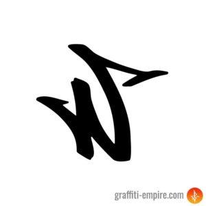 W Graffiti Tag Letter