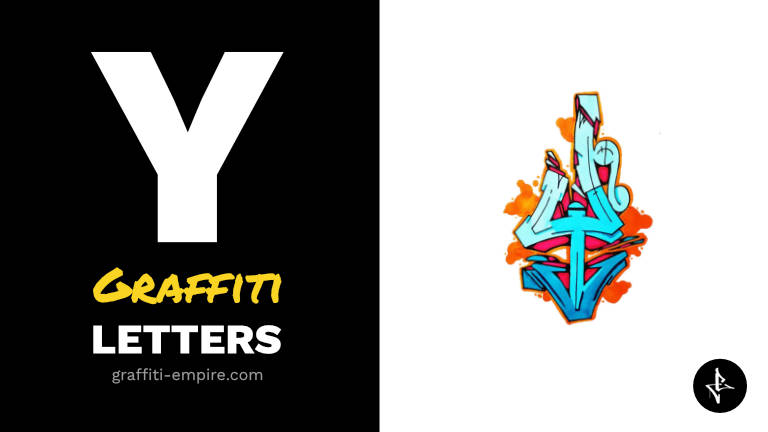 Y graffiti letters thumbnail graphic
