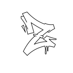 How to draw graffiti letter Z tutorial step 3 graphic