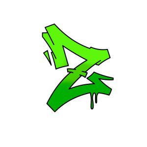 How to draw graffiti letter Z tutorial step 4 graphic