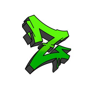 How to draw graffiti letter Z tutorial step 5 graphic
