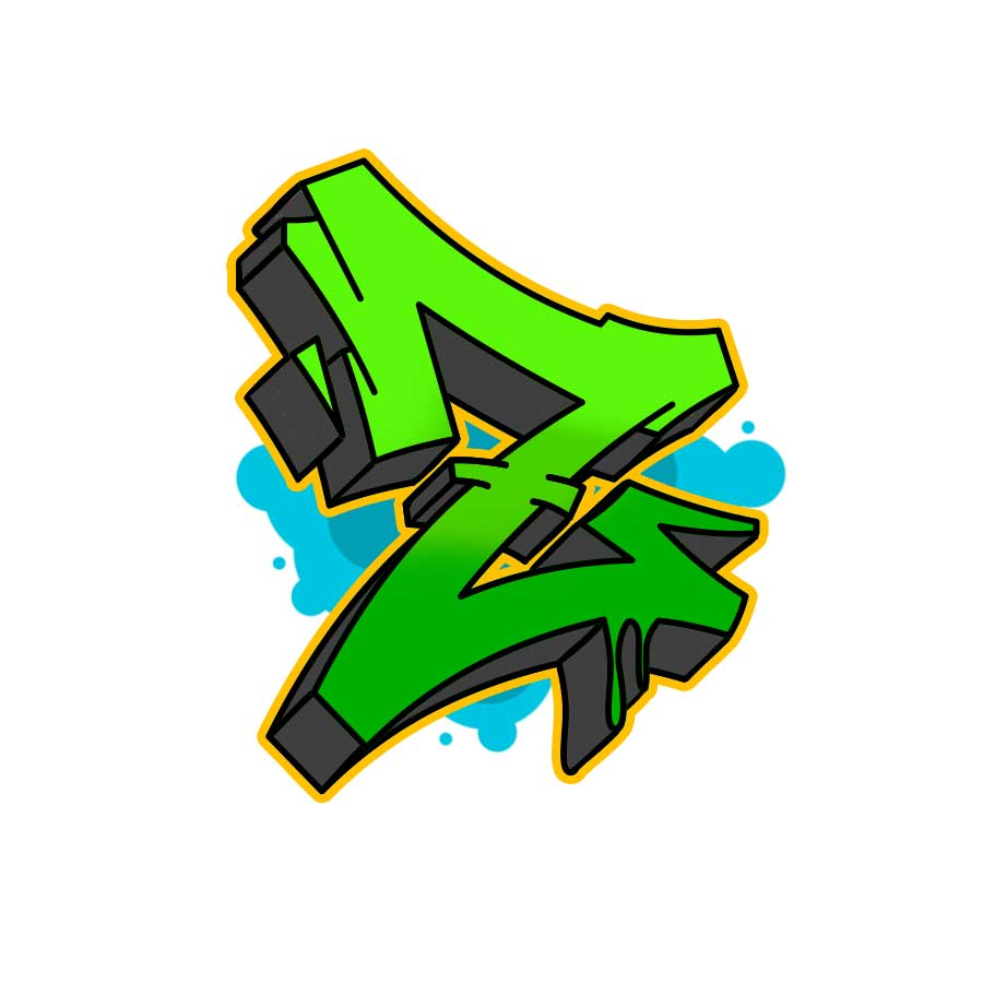 How to draw graffiti letter Z tutorial step 6 graphic