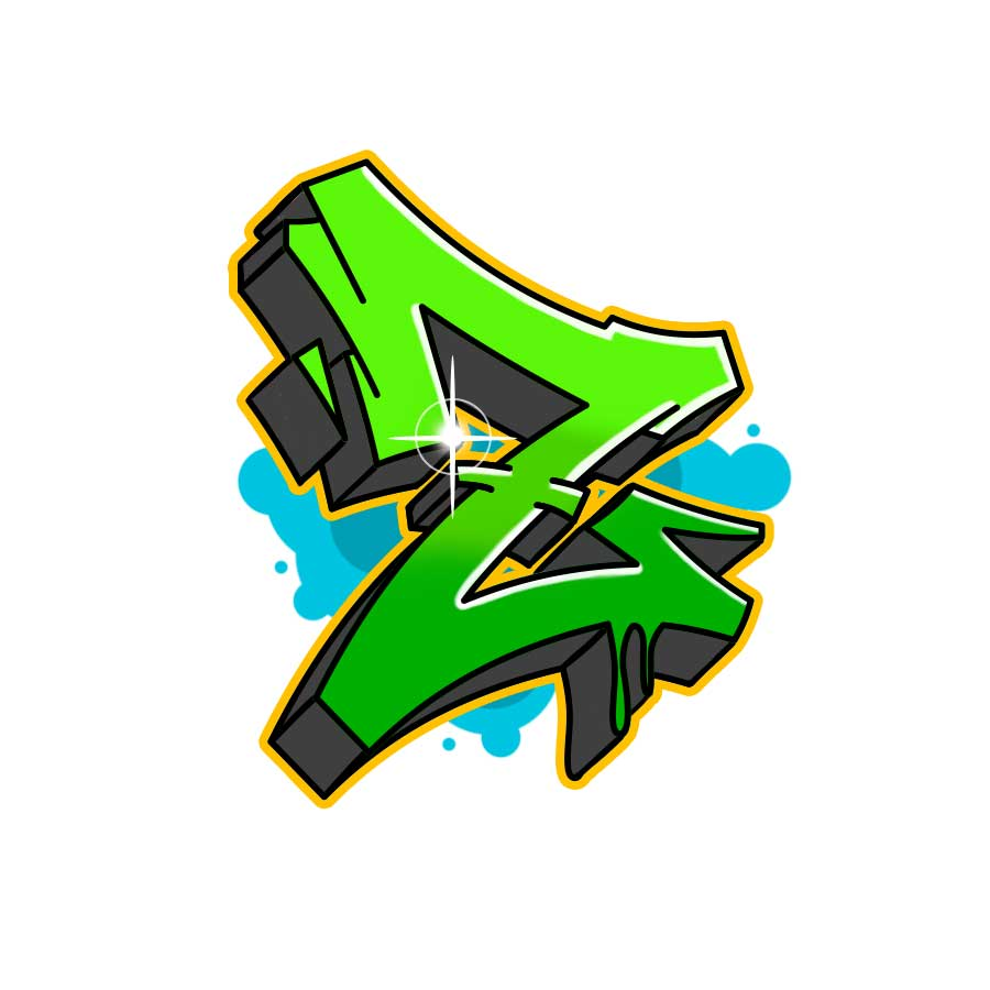 How to draw graffiti letter Z tutorial step 7 graphic