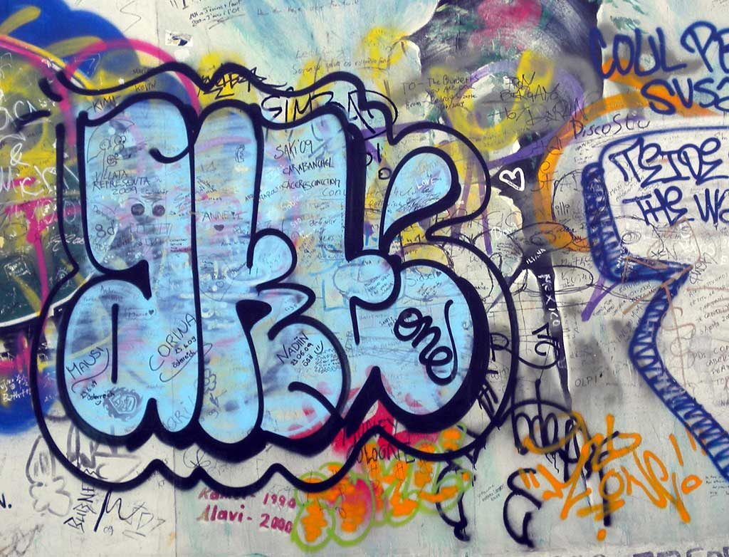 Graffiti Spotting: Berlin East Side Gallery - Simple Style & Tags