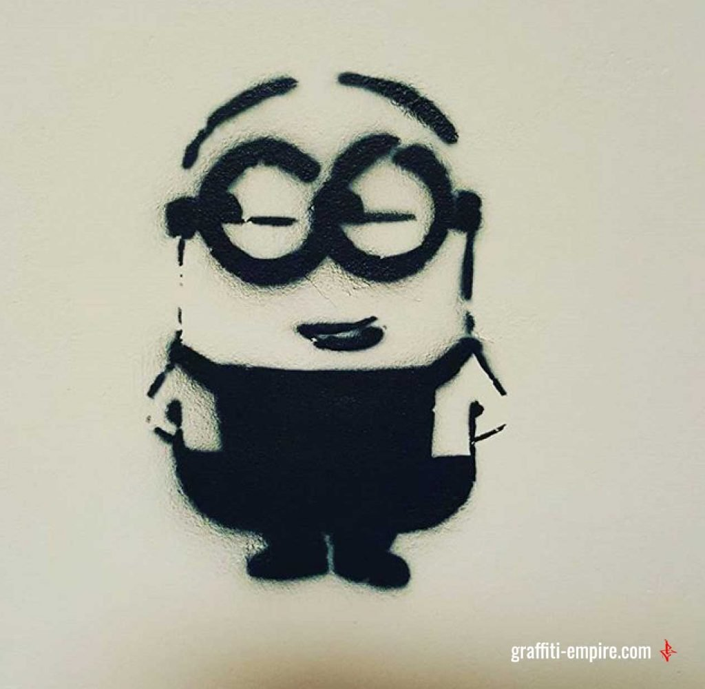 Stencil Graffiti Minion