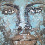 Face of a woman Streetart in Bangkok