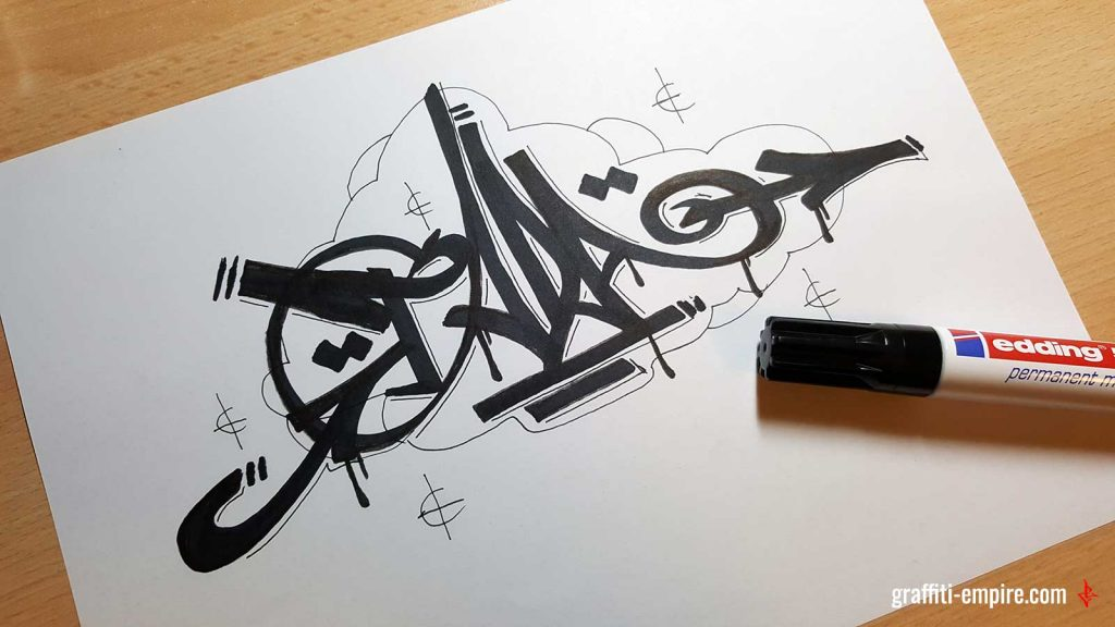TADA Graffiti Tag by Graffiti Empire