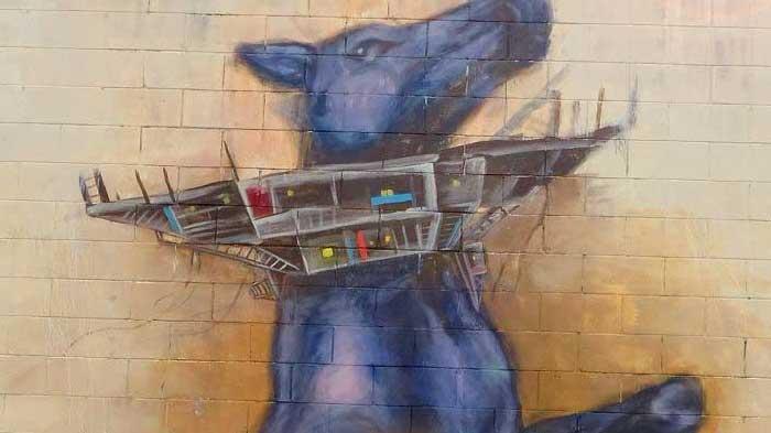 Streetart Horse Mural in Auckland, New Zealand